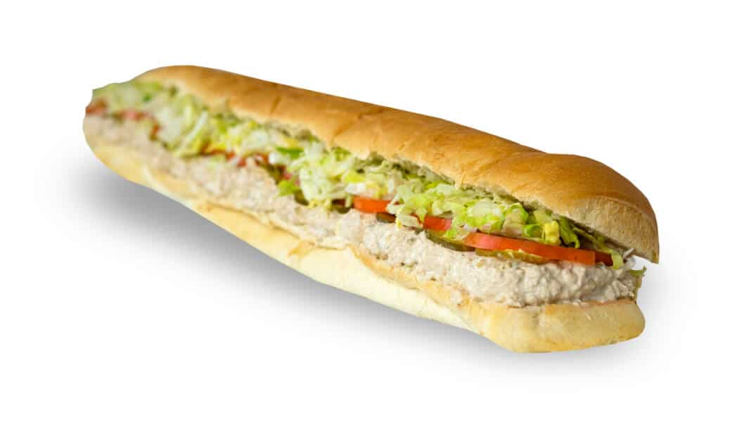 Long sub sandwich with tuna