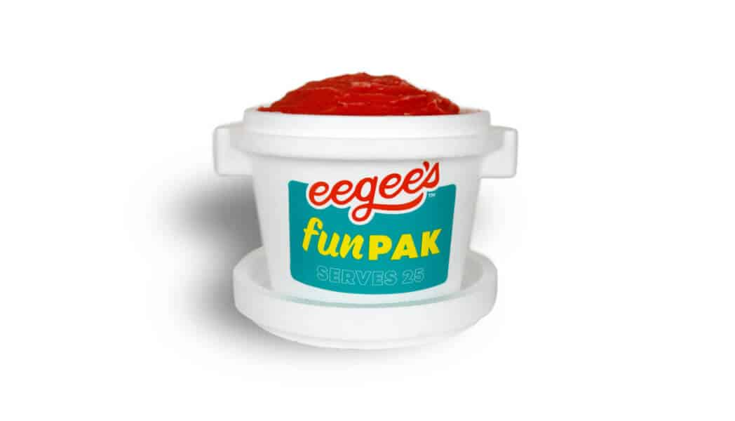 Smaller container of red eegee