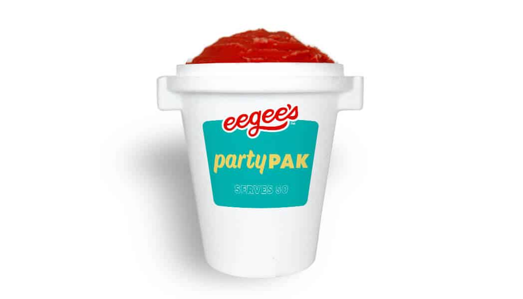 Large container of red eegee