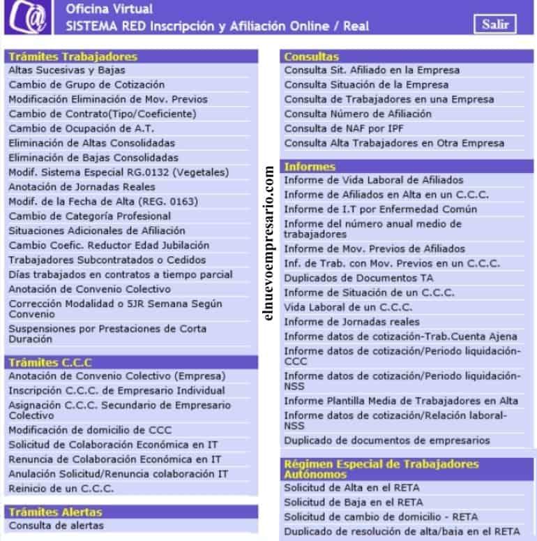 sistema red afiliación e inscripción