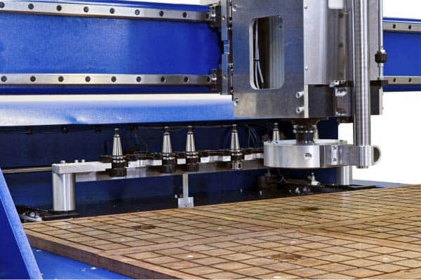 cnc router with 10 tool magazine housing