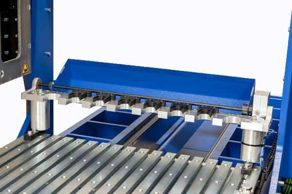 CNC machine with tool rack