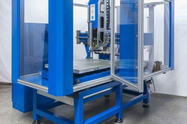 High speed CNC machine with optional protective cover