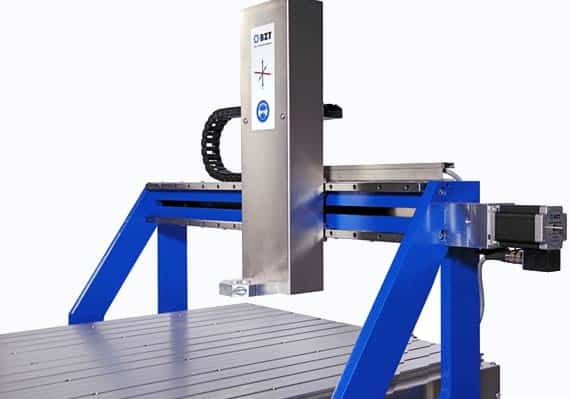 Small cnc router with steel construction