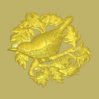 decorative-bird-3d-relief