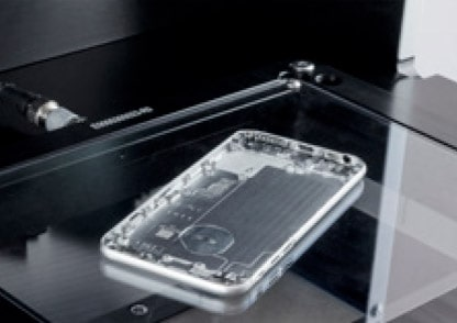 Optical measurement of cell phone case