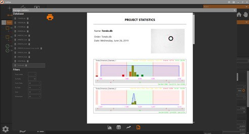 optical measurement software report