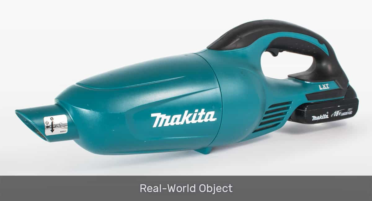 comparison vacuum real object
