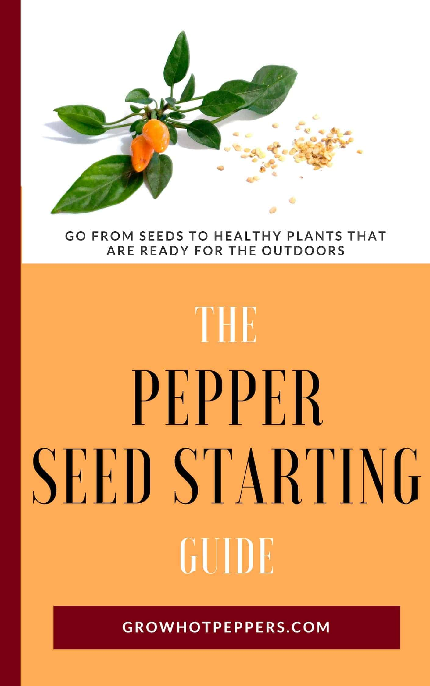 The Pepper Seed Starting Guide Ebook cover