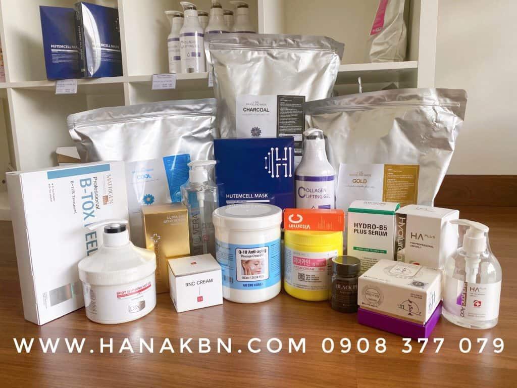 hình ảnh mỹ phẩm cho spa tại HanaKBN