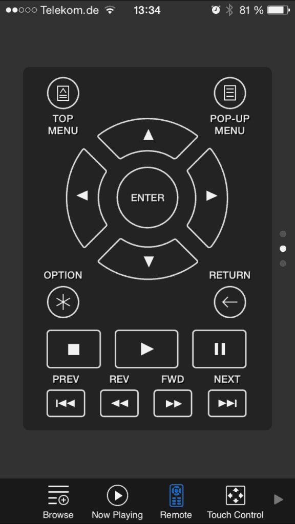 Oppo Media Controll Remote