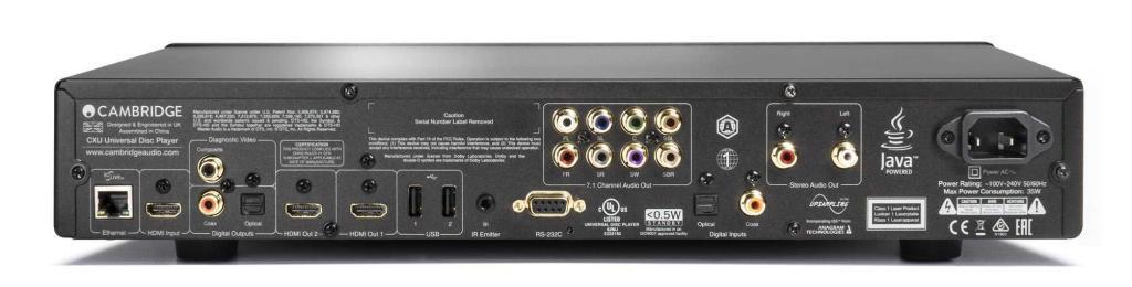 Cambridge Audio CXU Rückseite