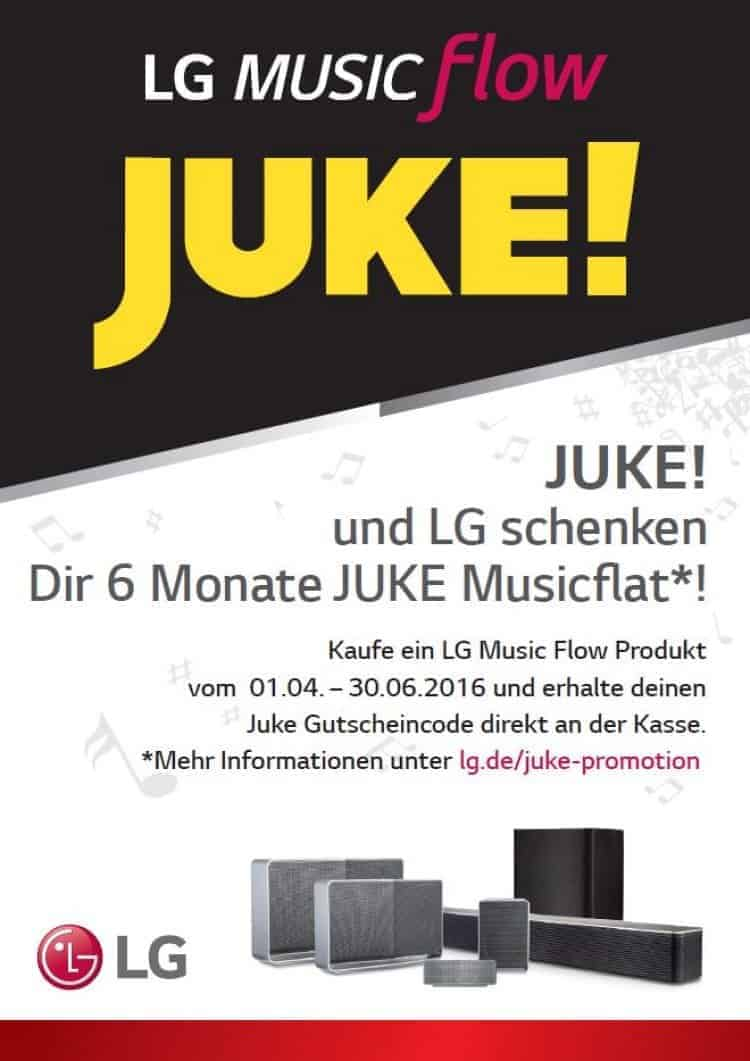 LG Music Flow Musicflat-Aktion mit JUKE!
