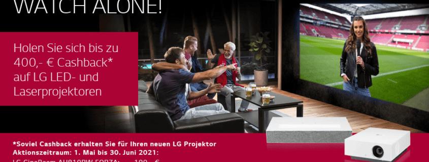 LG Projektoren Frühjahrs - Cash Back