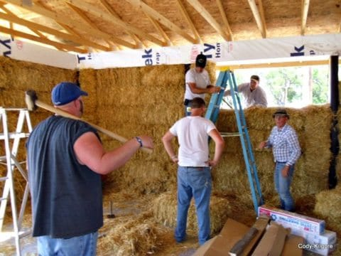 straw bale insulation - green insulation choices