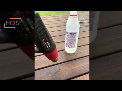 Kaip nuvalyti sakus terasoje | How to clean resin from deck boards | www.mdsterasos.lt