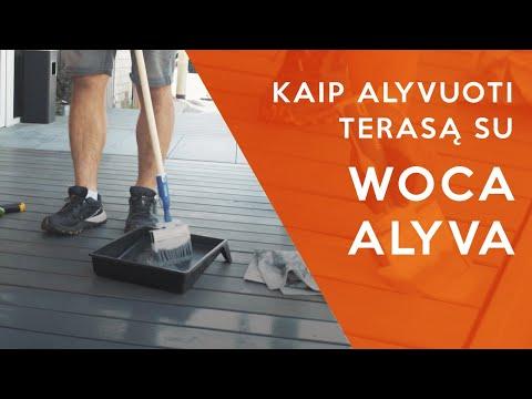 Kaip alyvuoti terasą su WOCA alyva   Terasos alyvavimo instrukcija ir patarimai   MDS Terasos