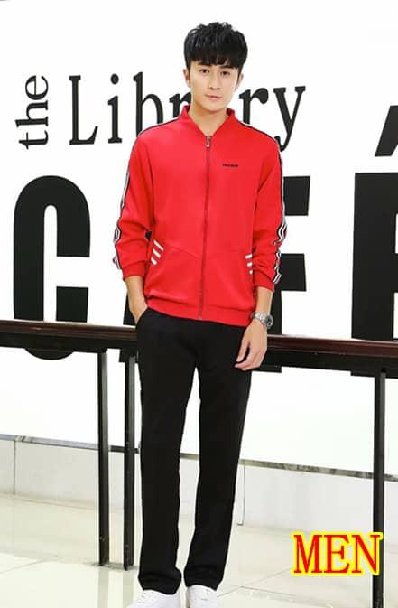 Men red suit