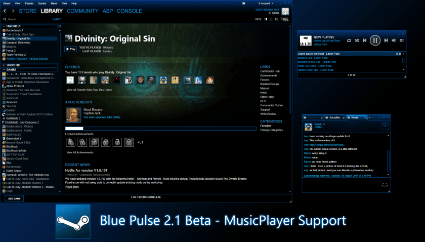 Blue Pulse Steam Skin