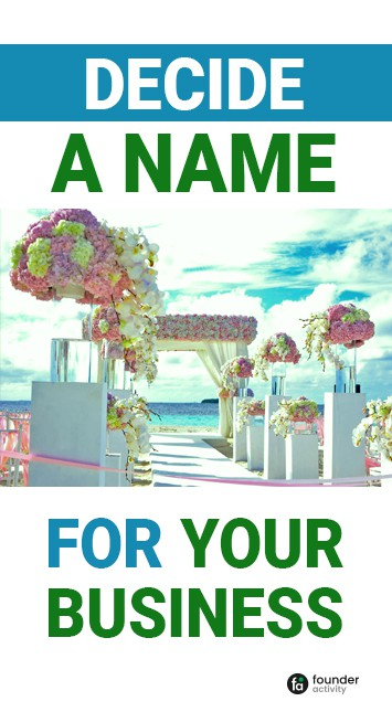 decide a name for your business