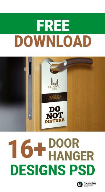 free download 16+ door hanger designs PSD