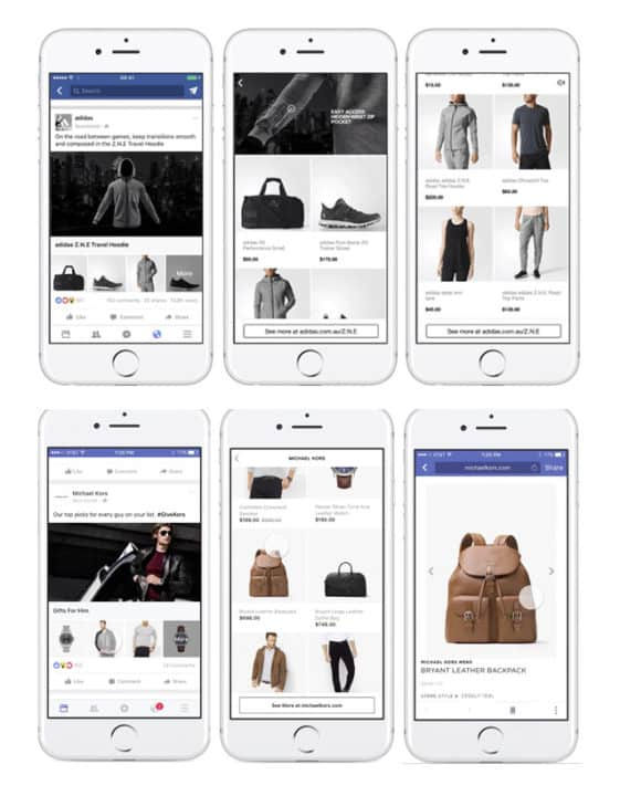 Facebook marketing strategy for small business Collection Ads