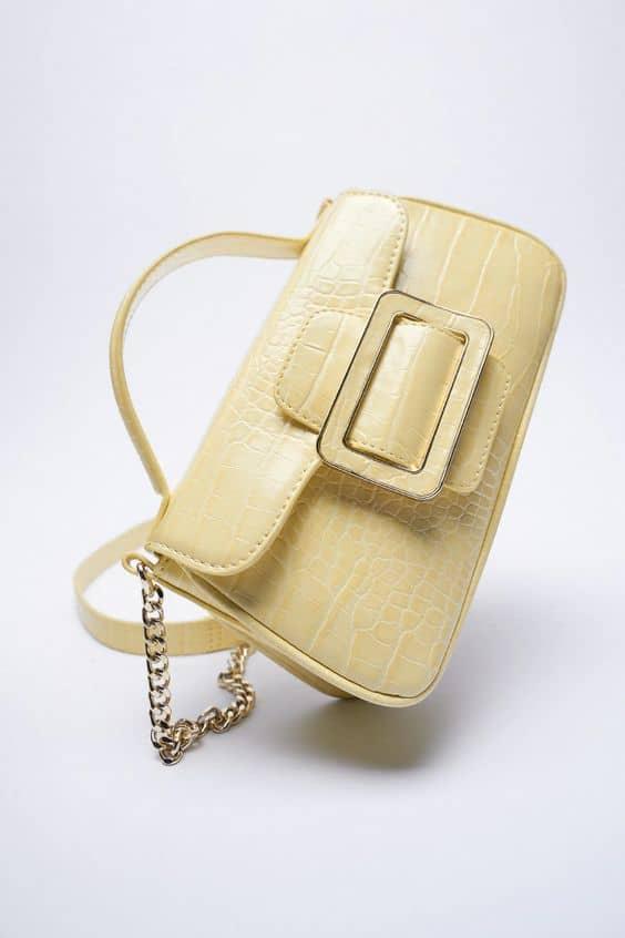Yellow Mini crossbody bag. Zara
