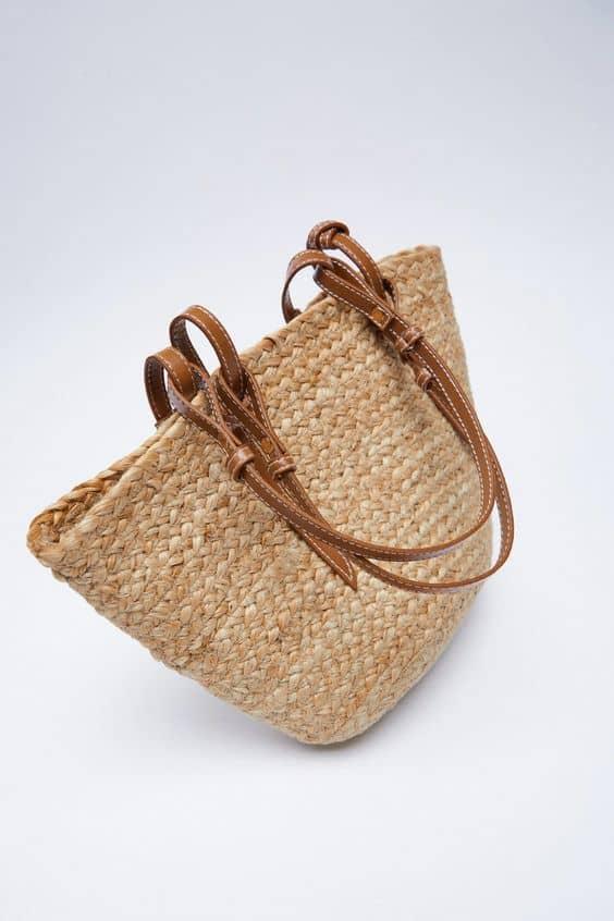 Zara Mini Jute Tote Bag