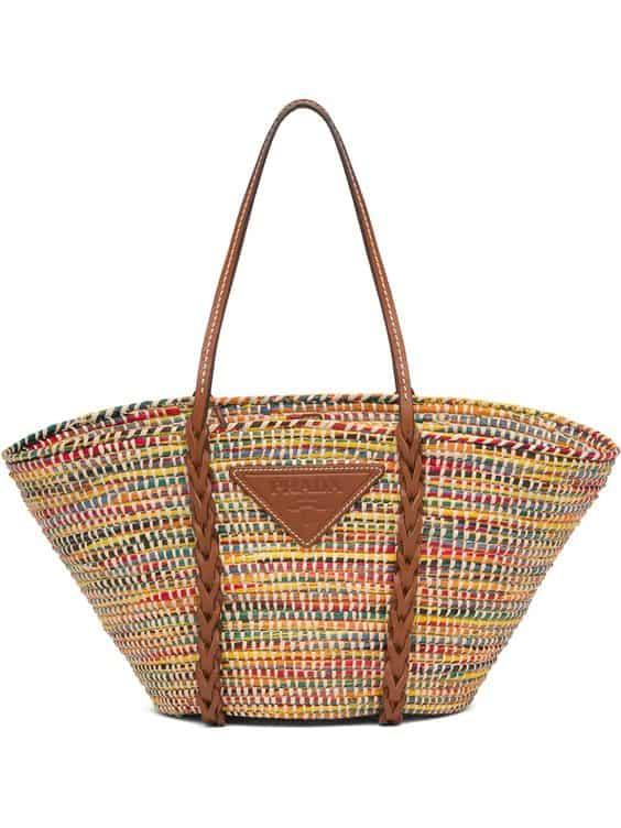 Straw Tote Bag, £790, Prada at Farfetch