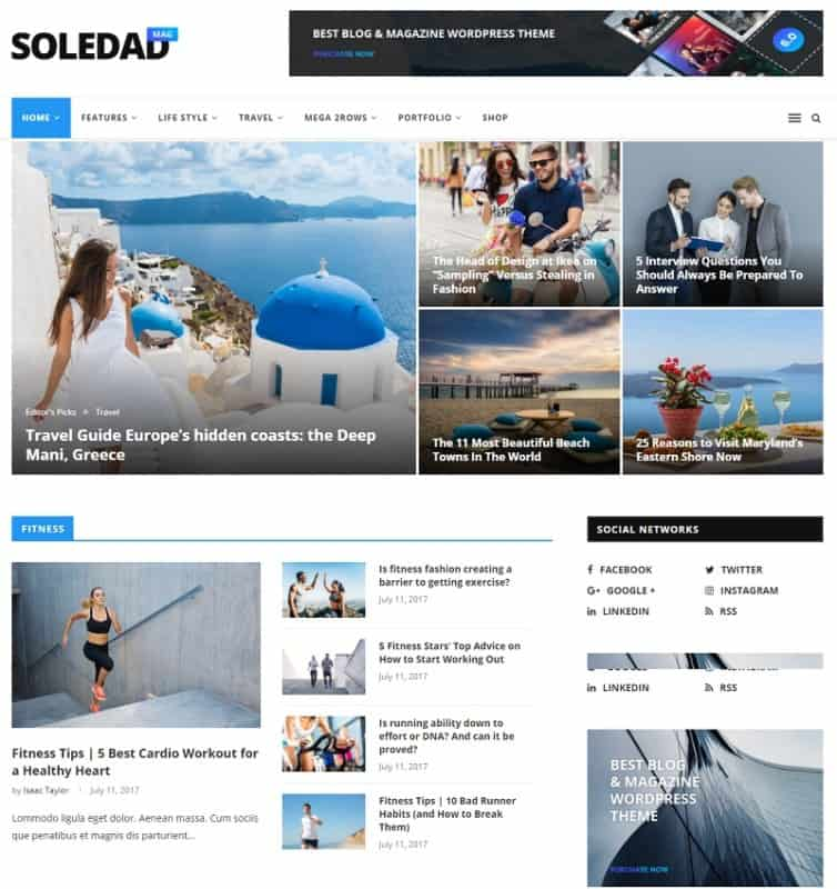 Soledad - Multi-Concept Blogs Magazine WordPress Themes Soledad theme