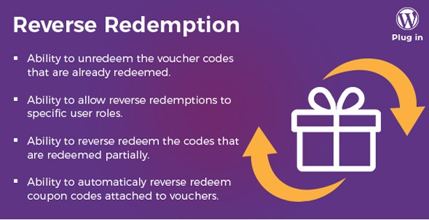 WooCommerce PDF Vouchers reverse redeemtions