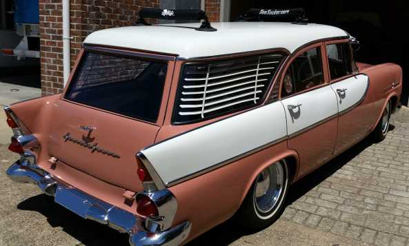 1960 FB Holden with SeaSucker Paddle Board Rack
