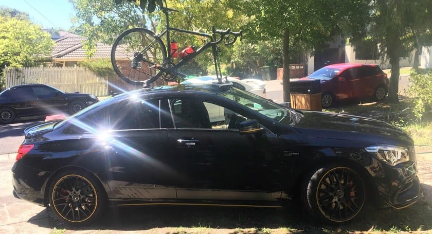 Mercedes CLA45 AMG Bike Rack - The SeaSucker Mini Bomber