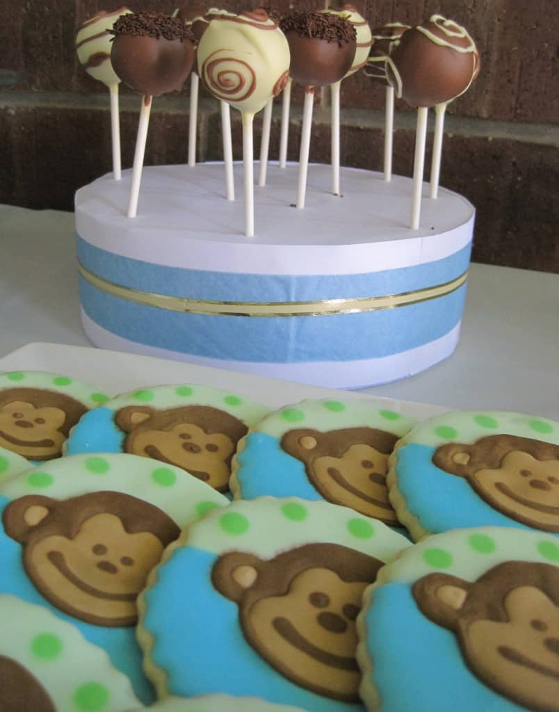 Chocolate Cake Pops and Monkey Cookies