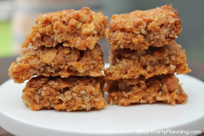Plate of simple flapjacks