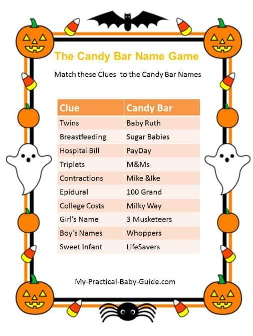 Halloween Candy Bar Game