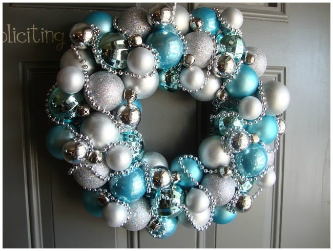 Christmas wreath with baubles