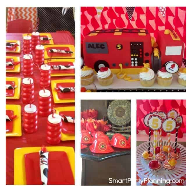 Easy Fire Truck Birthday Party