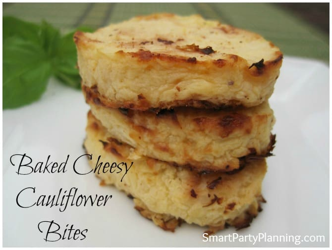 Baked Cheesy Cauliflower Bites