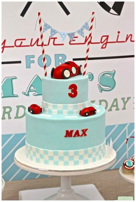 Racing Car Party Cake