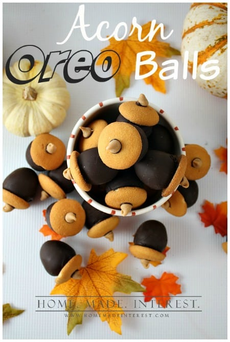 Acorn Oreo Balls Thanksgiving Treats