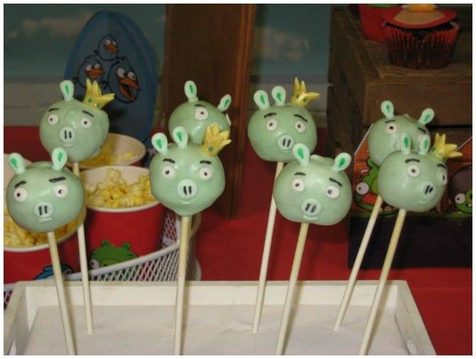 Angry Birds Pig Cake Pops