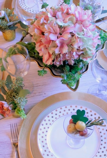 St Patrick's Flower TableScape