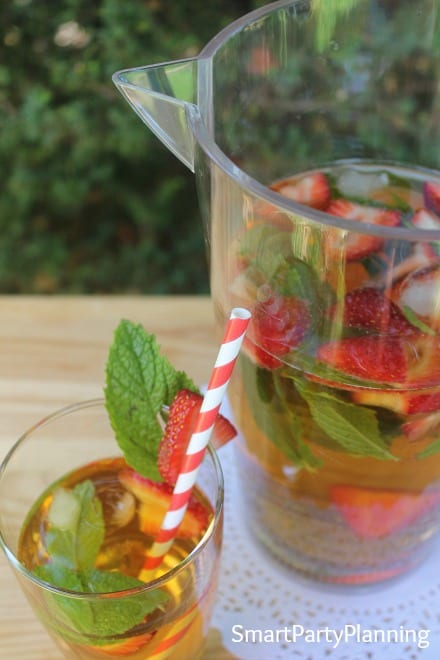 Strawberry infused Green tea