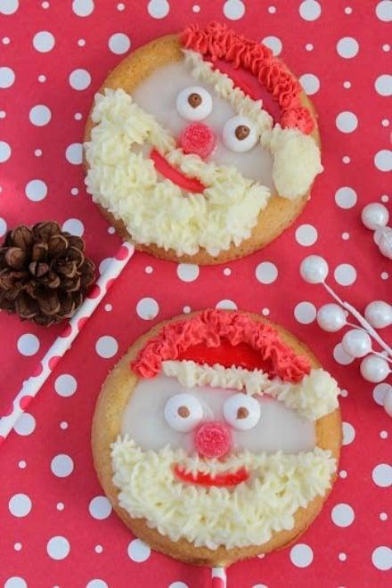 santa cookie pops