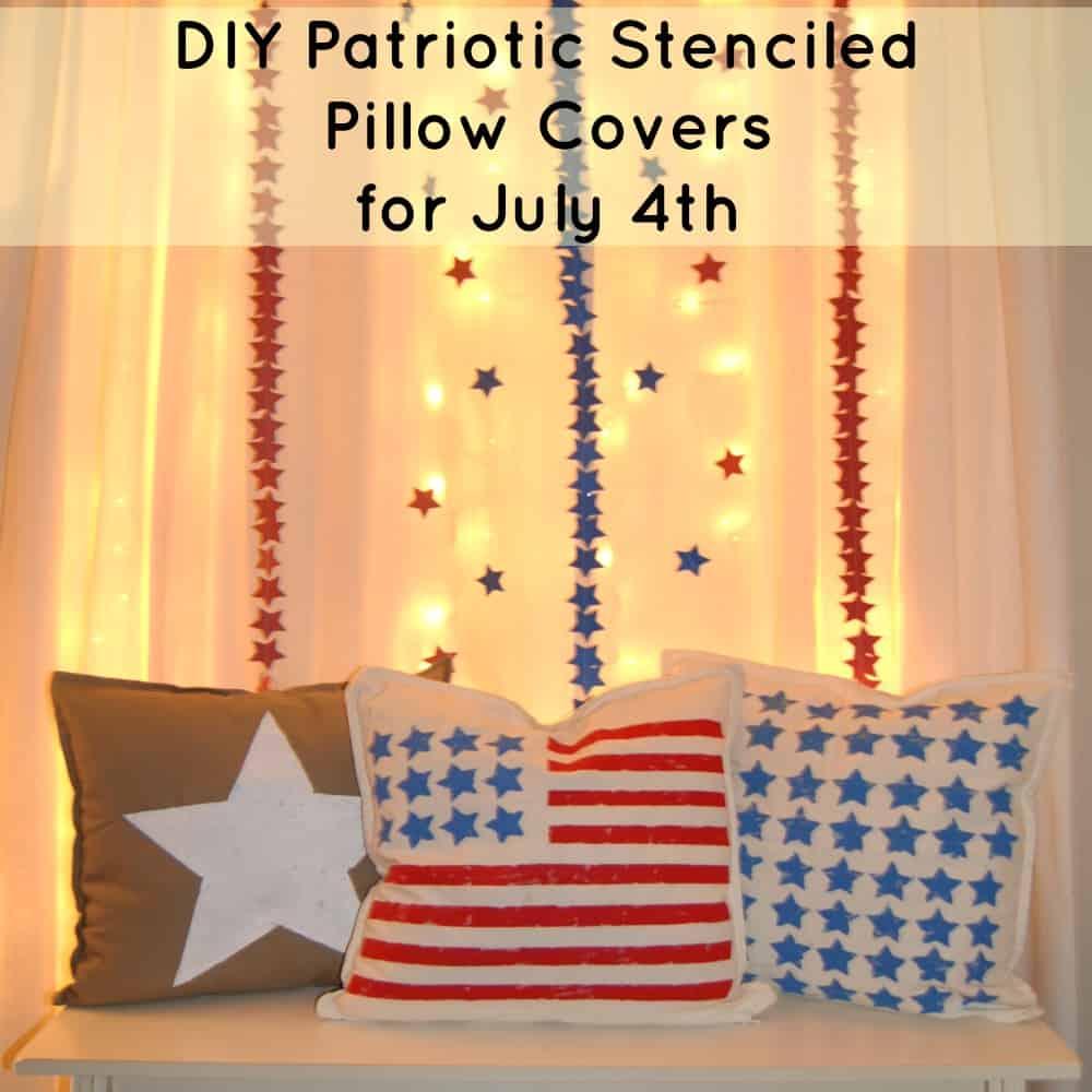 Stenciled Patriotic Pillows