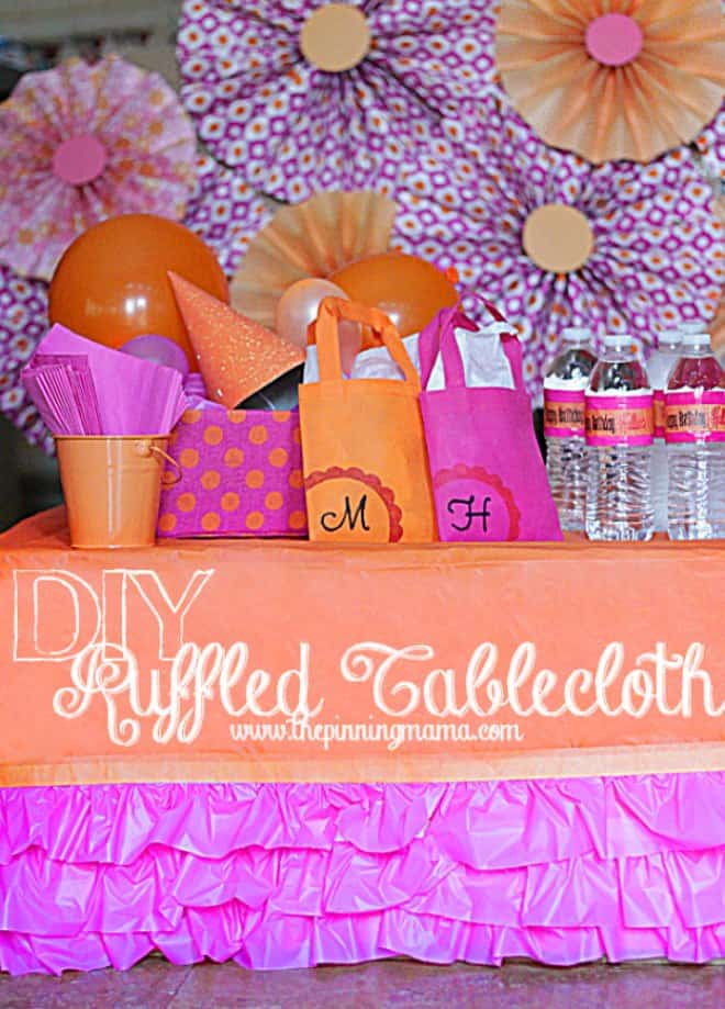 DIY Ruffled tablecloth