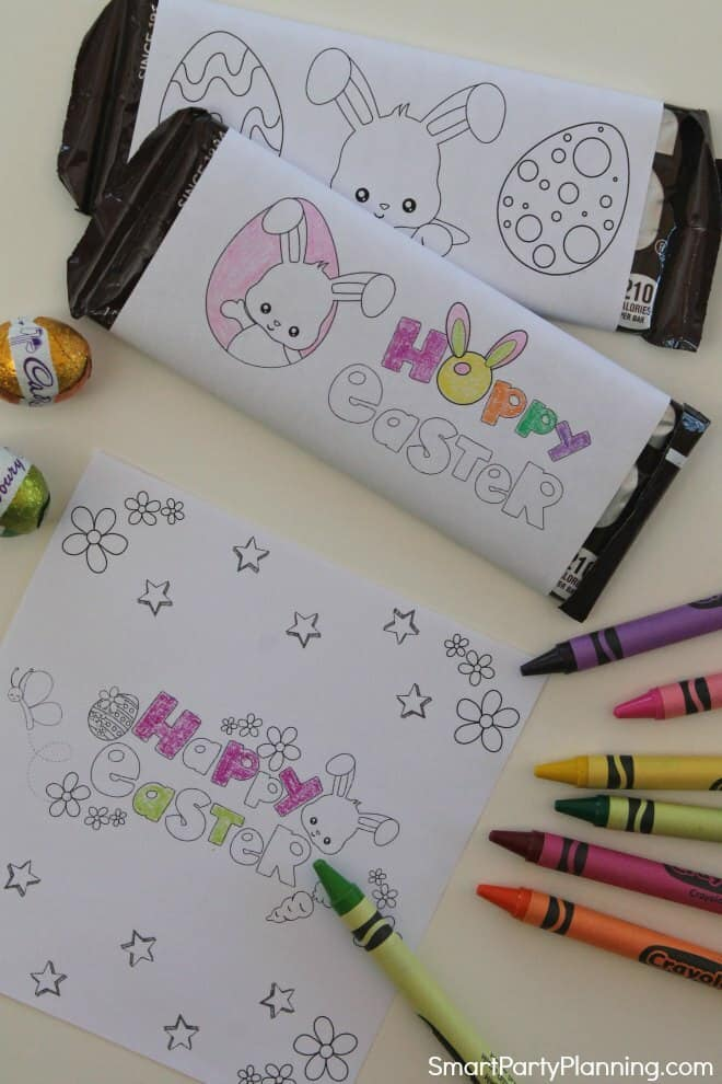 Printable candy bar wrappers for Easter