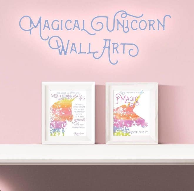 Magical unicorn wall art