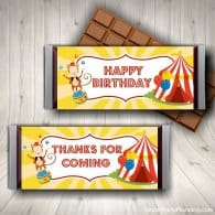 Circus Party Candy Wrappers